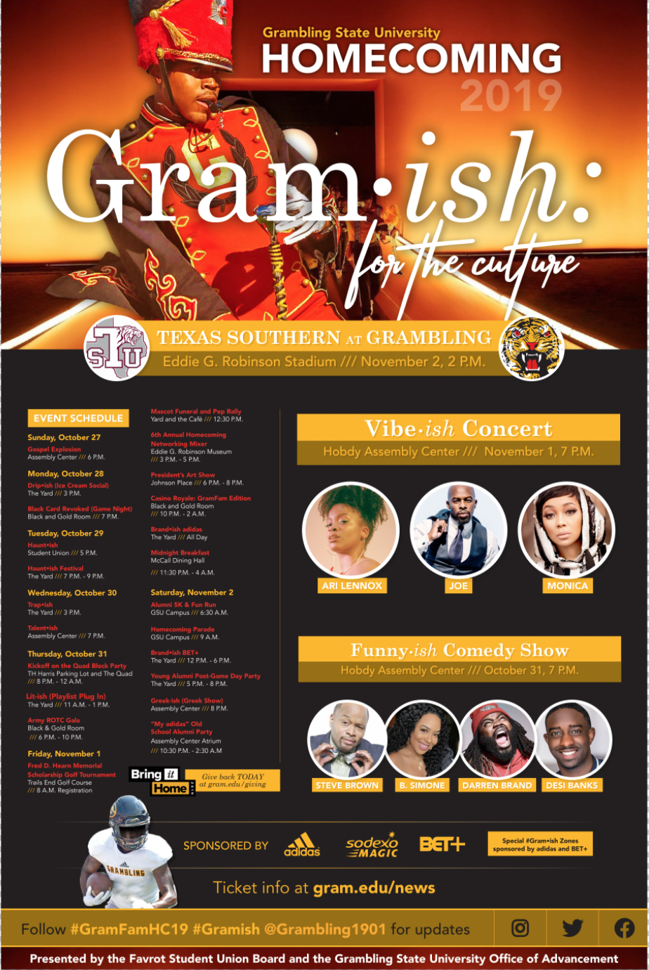 Grambling State University - Full Schedule: Homecoming For Grabling State Holiday Schedule