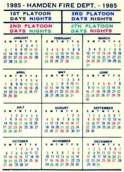 Hamden Fire Retirees Association, Inc. Pertaining To Houston Fire 2021 Shift Calendar