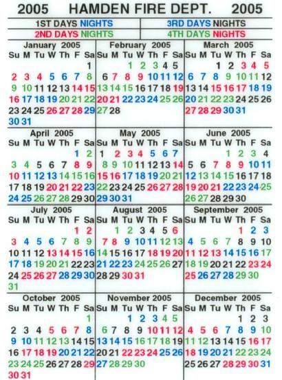 Hamden Fire Retirees Association, Inc. regarding Houston Fire 2021 Shift Calendar