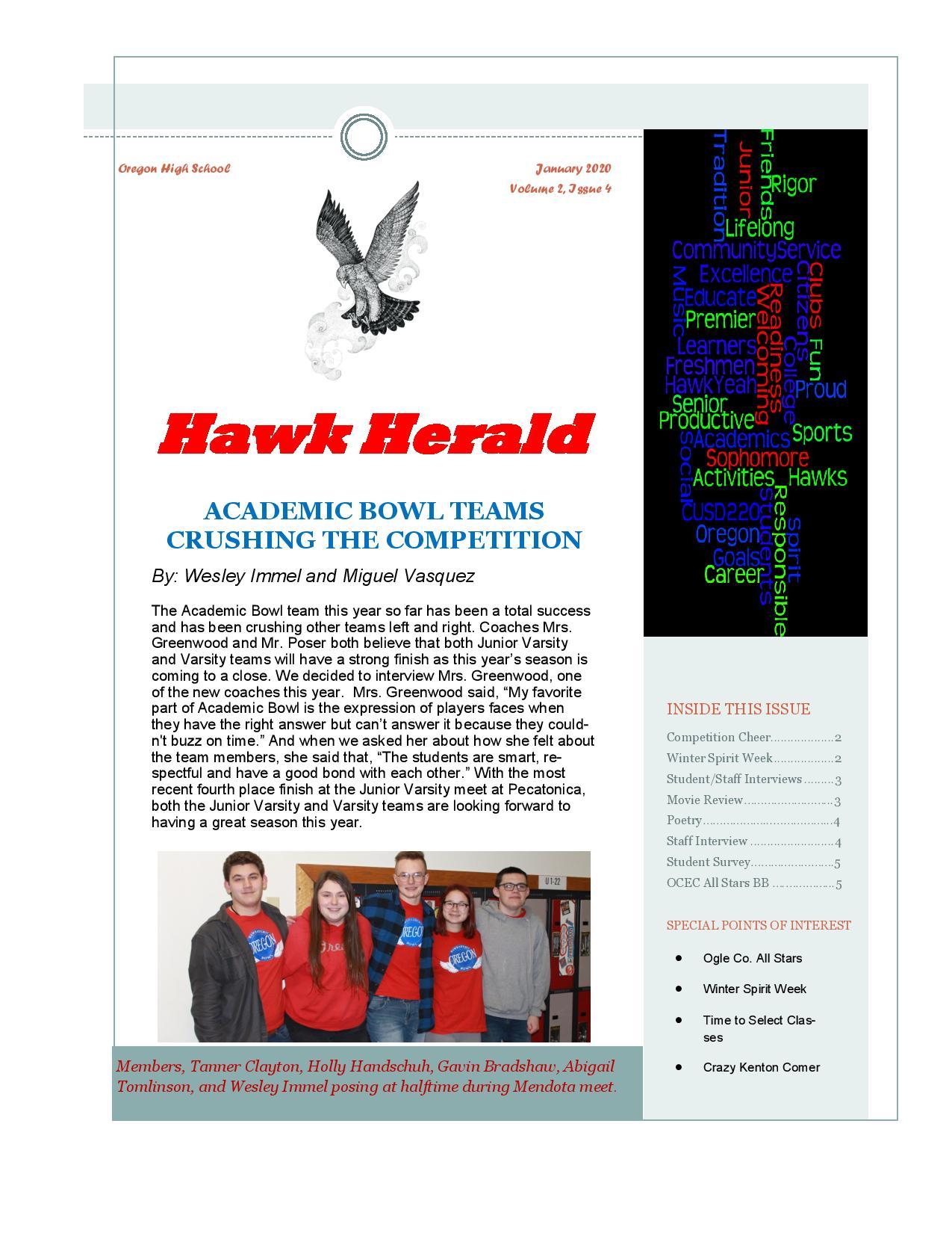 Hawk Herald – Ocusd 220 Regarding Oregon City High School Calendar