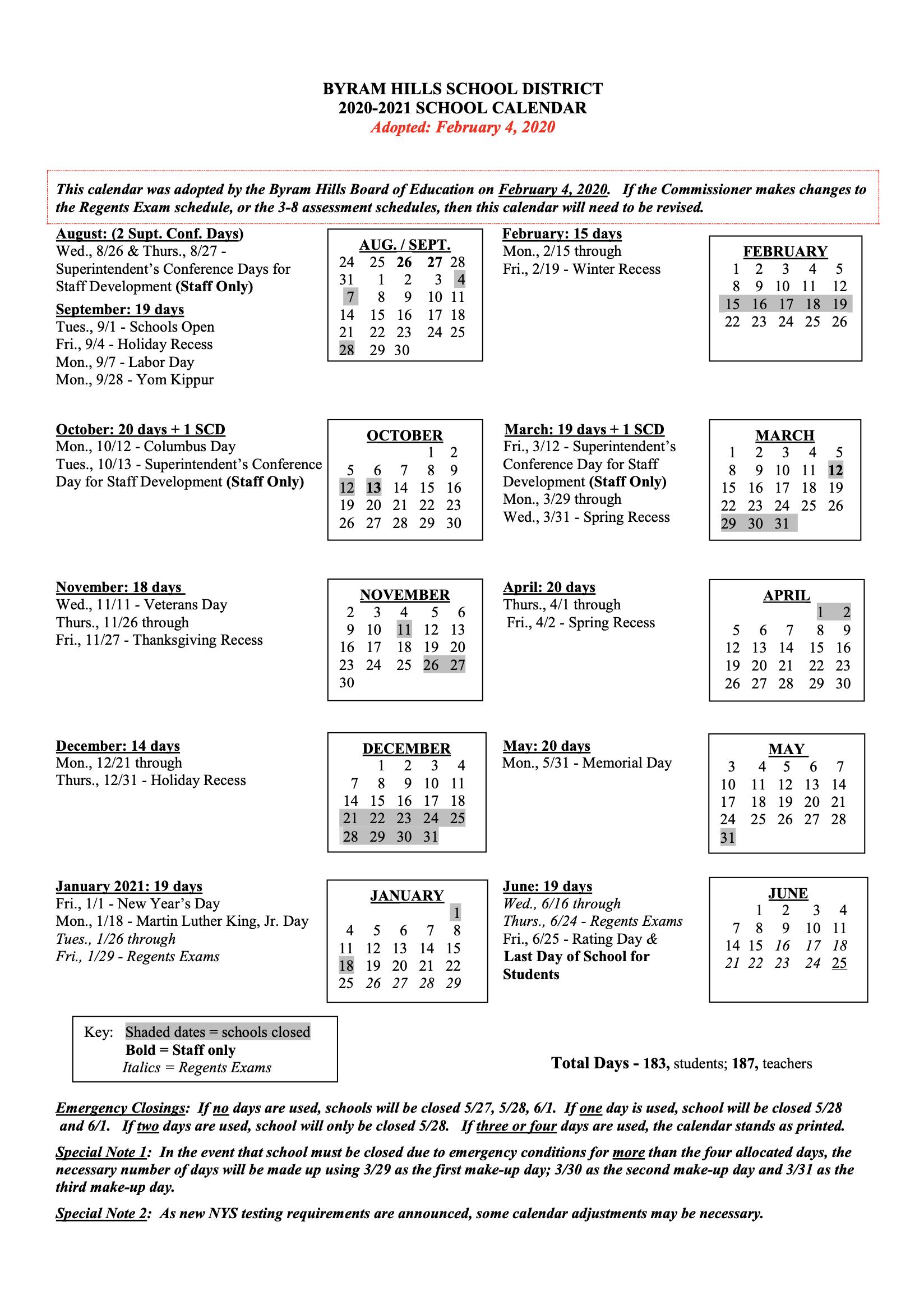 Hcc Calendar 2021 | 2021 Calendar with Greece Central School District 2021-2021 Calendar