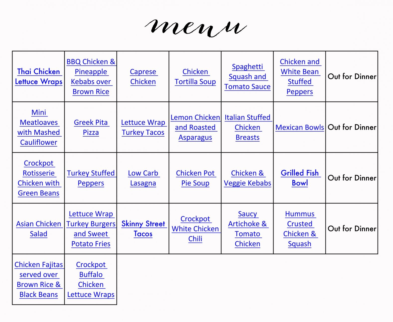 Healthy Menu & Grocery List | Healthy Menu, Advocare intended for Advocare 24 Day Challenge Printables