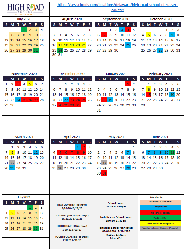 High Road School Of Sussex County – Sesi Throughout College Of Staten Island Calendar 2021
