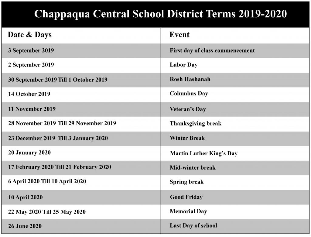 High School Handbook – Monroe Woodbury Central School In Aiken County School Calendar 2021 2020