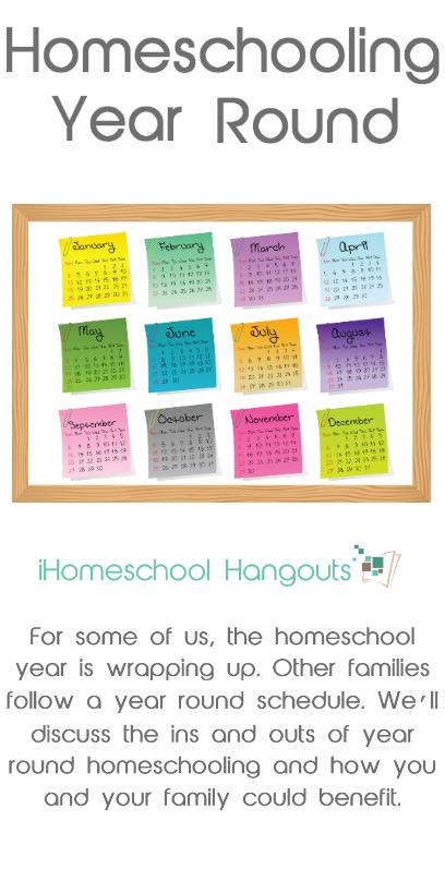 Homeschooling Year Round – This Week'S Ihomeschool Hangout Regarding What Is A Sample Year Round School Schedule