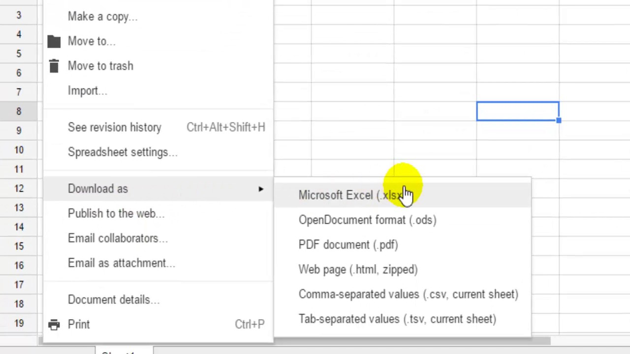How To Convert The Google Spreadsheet To Microsoft Excel Pertaining To Convert Excel In Google Calendar