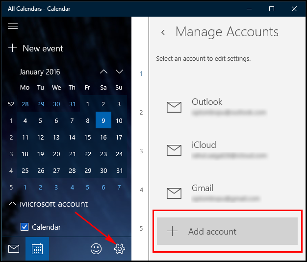 How To Create And Sync Calendar Events In Windows 10 | Ilicomm Intended For Put Google Calendar On Desktop