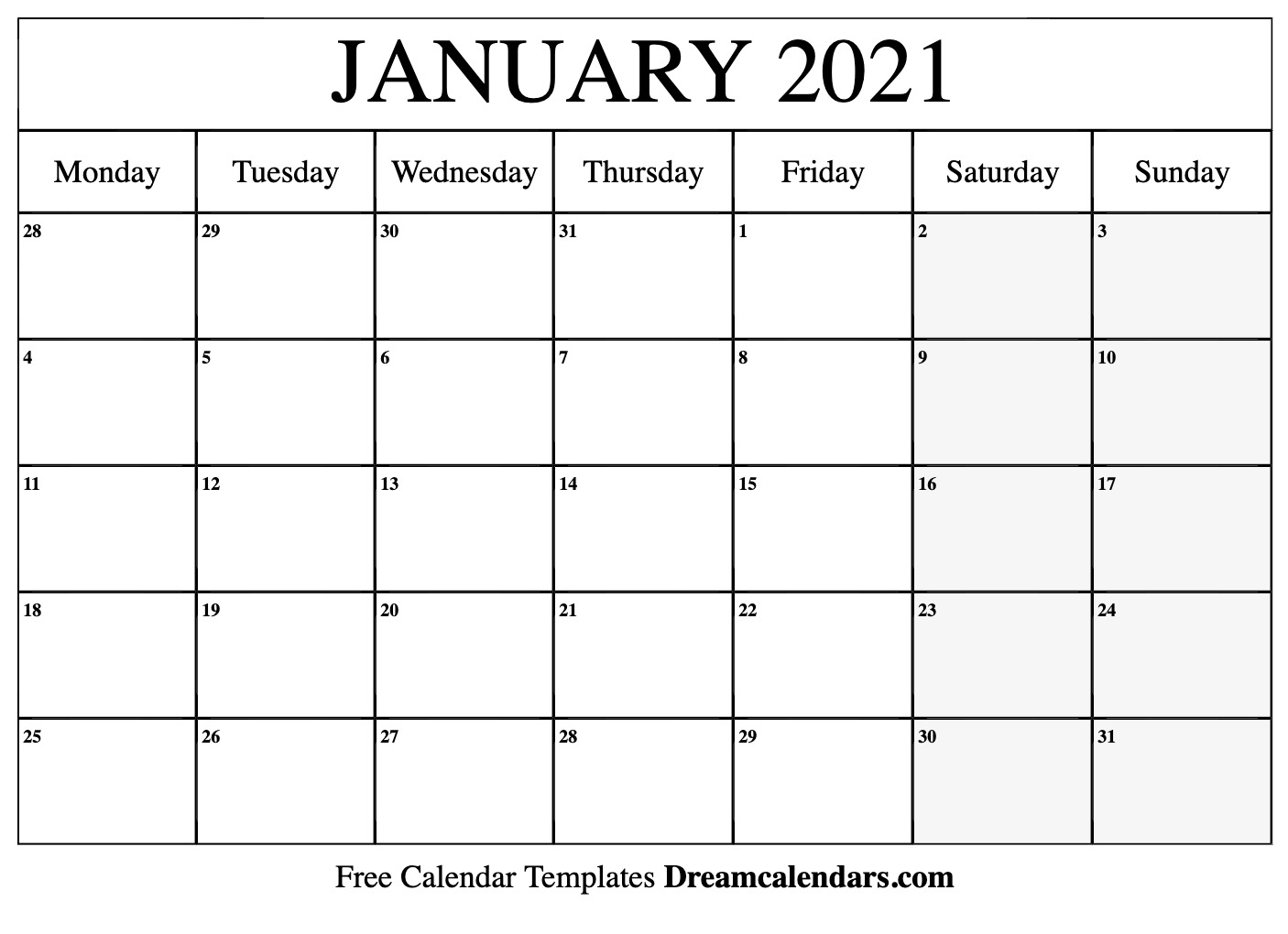 January 2021 Calendar | Free Blank Printable Templates With Regard To Printable Sunrise Sunset Calendar 2021