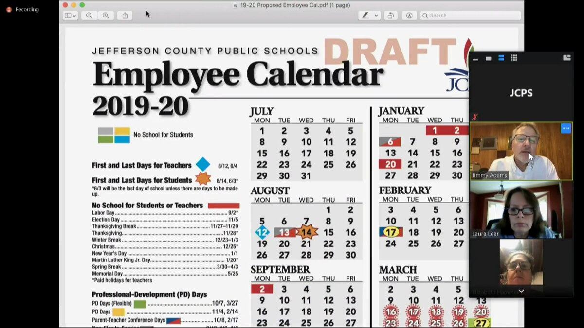 Jcps Board Discusses Changes To 2019 2020 School Calendar For Shelby County Al Public School Calendar 2021 2021