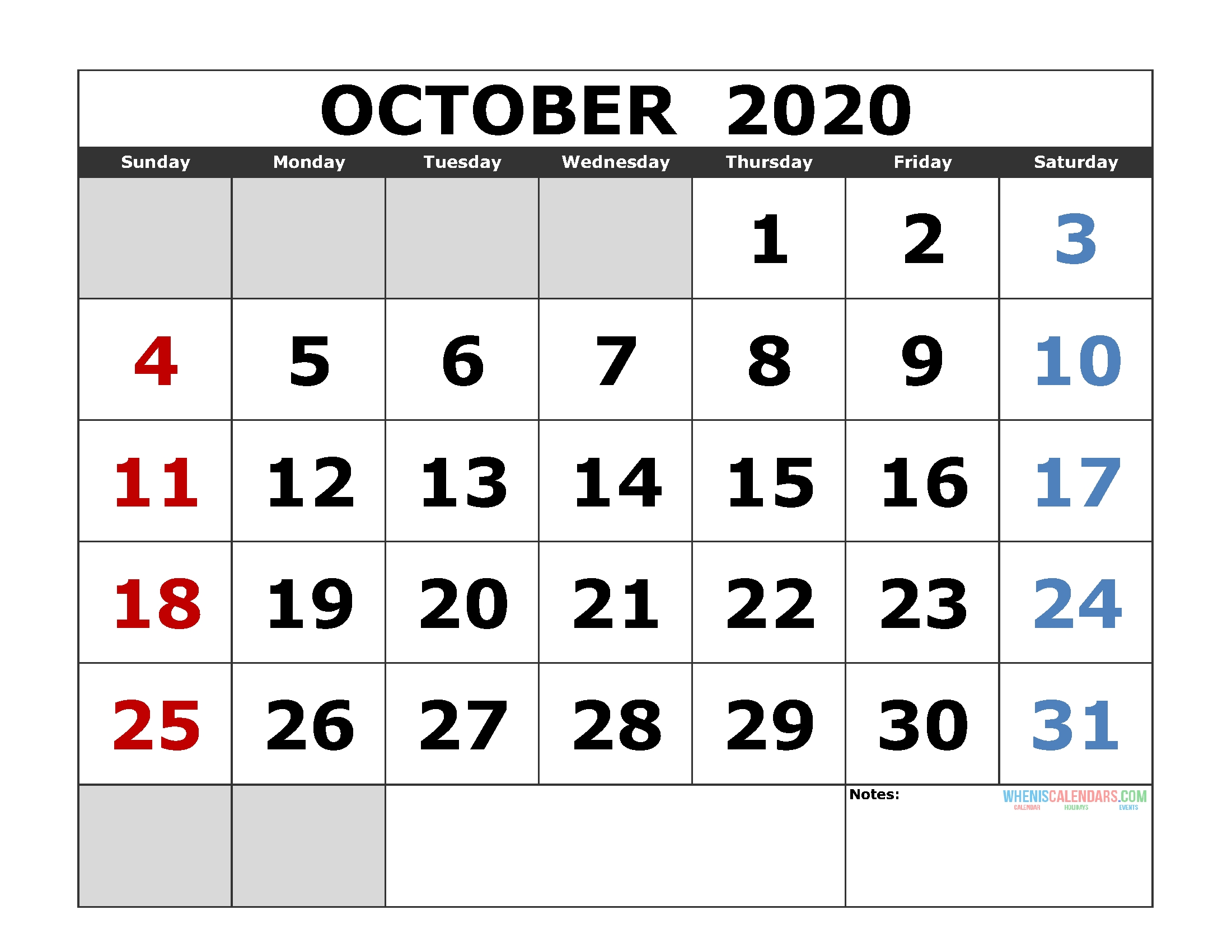 Jewish Holidays October 2020   Calendar Template Printable Within What Year Is It According To The Jewish Calendar
