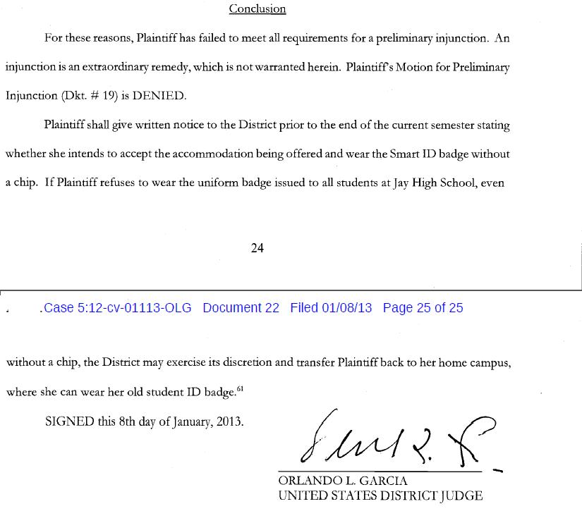 Judge Rules In Favor Of Northside Isd In Rfid Lawsuit Regarding John Jay High School San Antonio Calendar