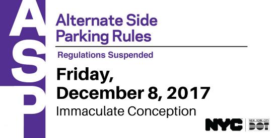 Karmabrooklyn Blog: Alternate Side Parking Suspended On Within Alternate Parking Nyc Calendar