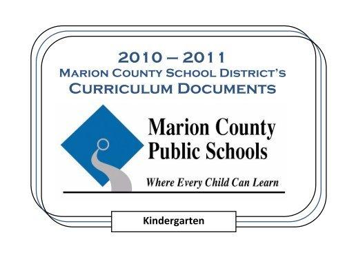 Kindergarten Curriculum Documents – Marion County Public Intended For Marion County Fl School Calendar