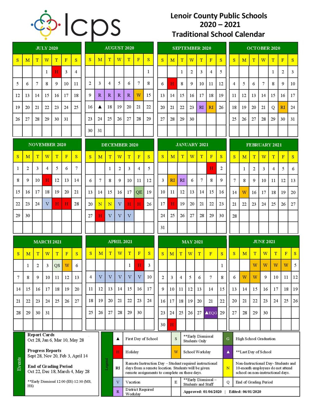 Lenoir County Public Schools Releases The Revised 2020 Intended For Board Of Education Calendar 2021 2020 Bibb County