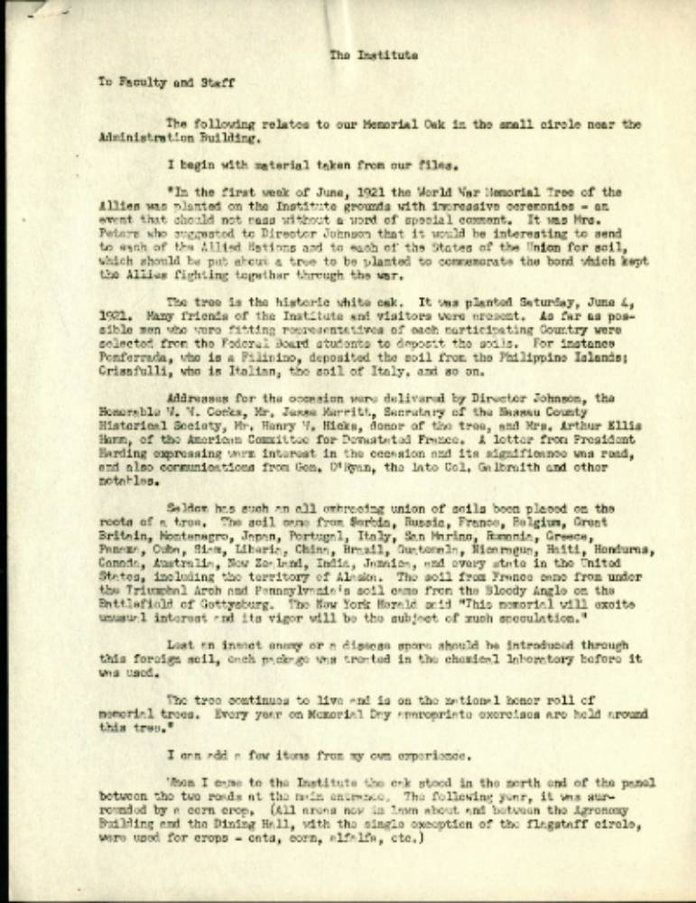 Letter From Halsey B. Knapp, April 12, 1956 For Farmingdale State College Spring Break