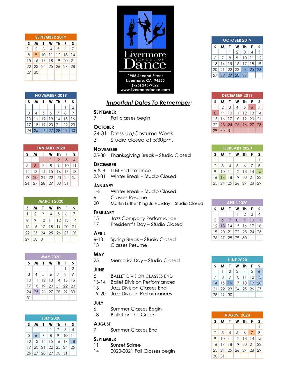 Livermore School Calendar | Printable Calendar 2020 2021 With Lake Orion High School Calendar 2020