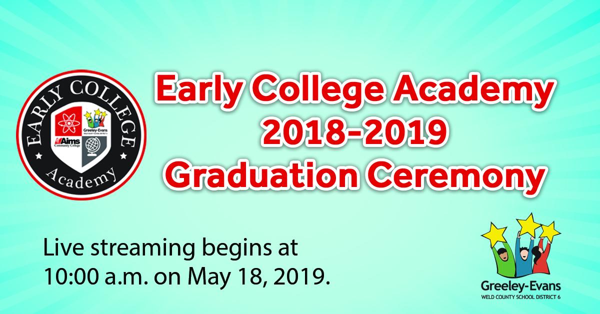 Livestream: Early College Academy 2018-2019 Graduation with regard to Jefferson County Colorado 2020 2021 School Calendar