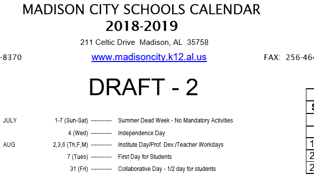 Madison, Newspapers, Schools, Breaking News, Sports Within Alabama State University Fall 19 School Schedule