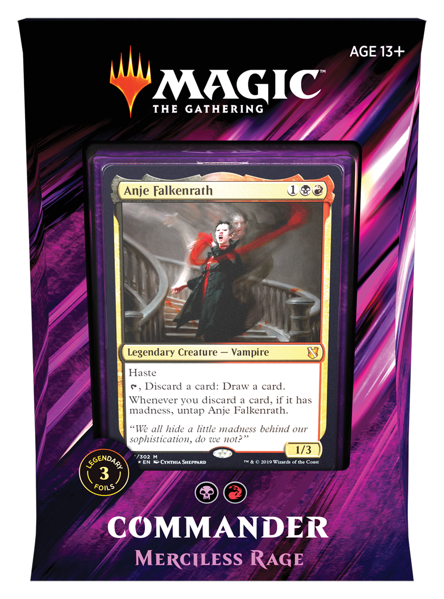 Magic: The Gathering Commander 2019 Deck – Merciless Rage Throughout Extra Magic Hours Calendar 2021