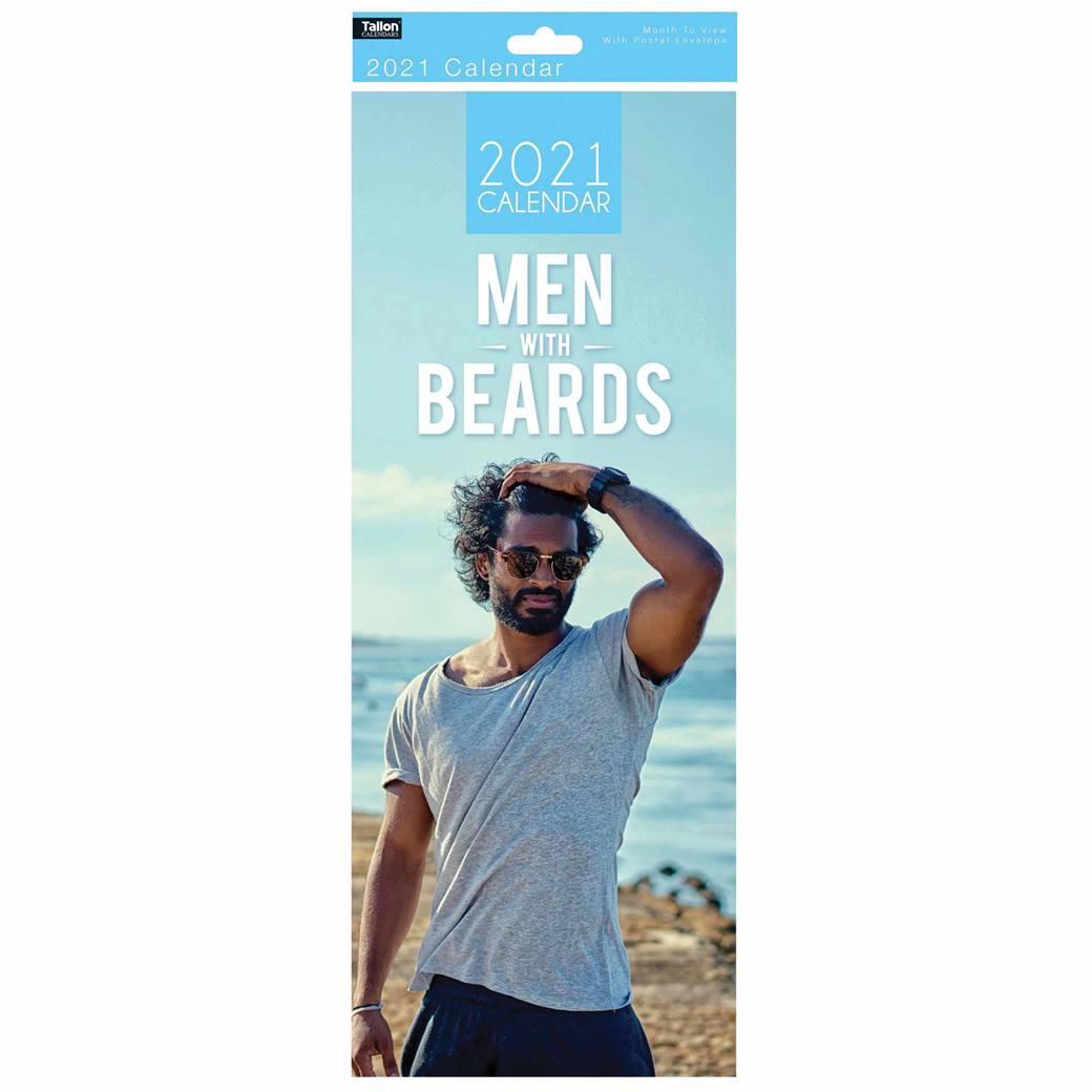 Men With Beards Slim Calendar 2021 At Calendar Club Within Men On A Mission 2021 Calendar