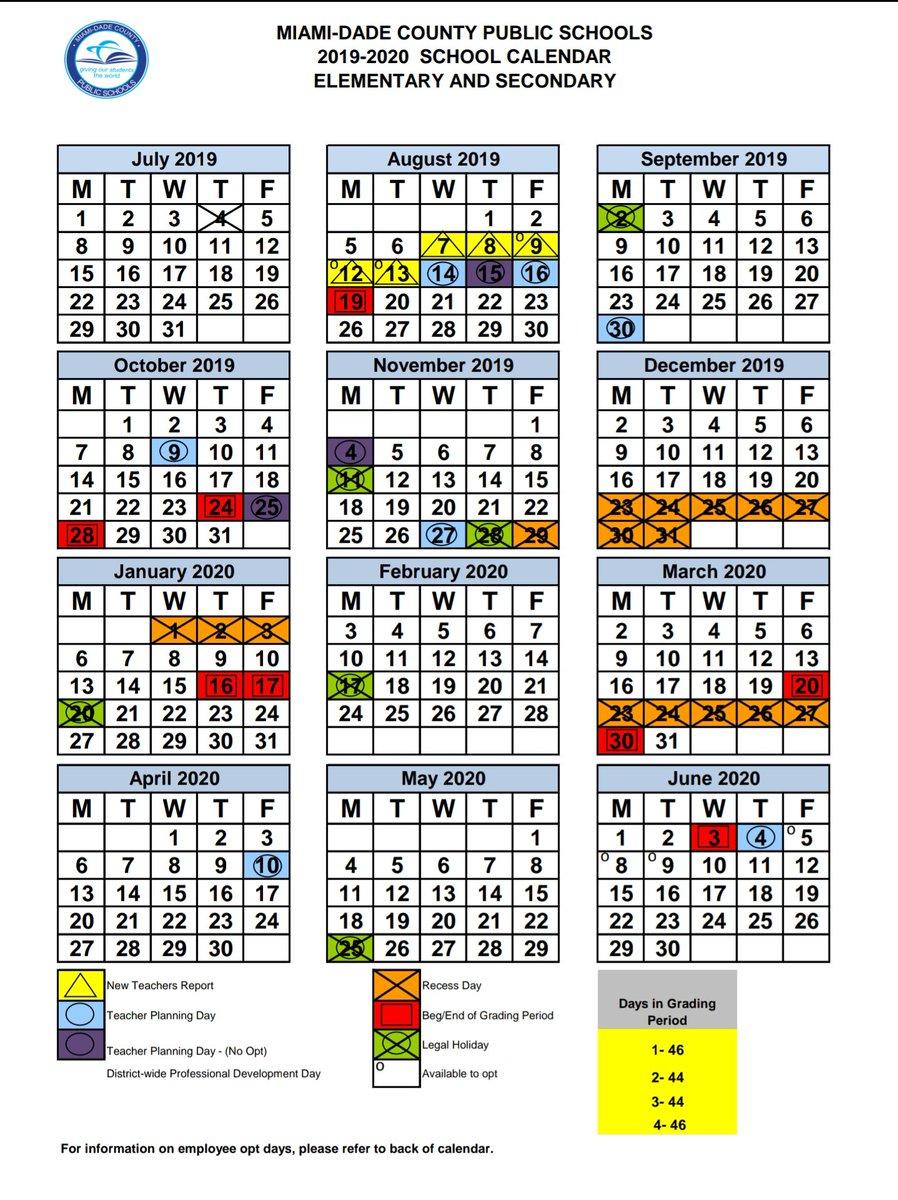 Miami Dade County Public School2020 21 with regard to Jersey City Public School Calendar 2021 2020