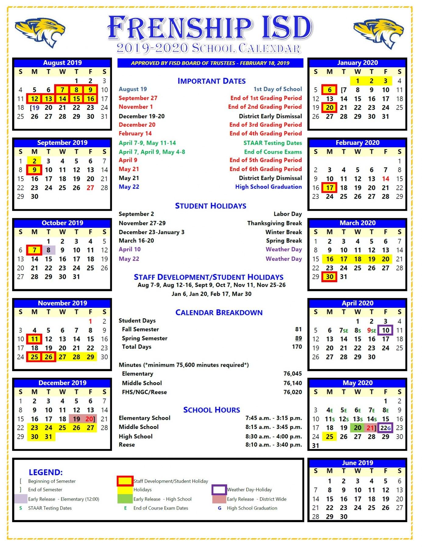 Milwaukee Public Schools Calendar 2020 | Free Printable within University Milwaukee Academic Calender