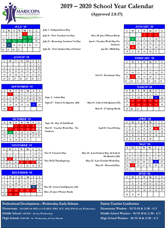 Musd Board Delays Modified Calendar Until 2018   Inmaricopa Regarding Woodbridge Township School District Student Calender2021 2020 School Year