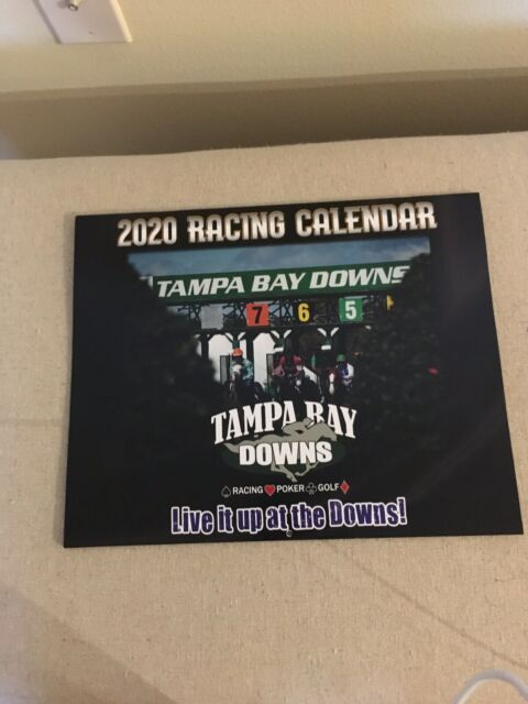 """New 2020 Tampa Bay Downs Horse Racing Calendar 12"""" X 10 Within Tampa Bay Downs Schedule"""