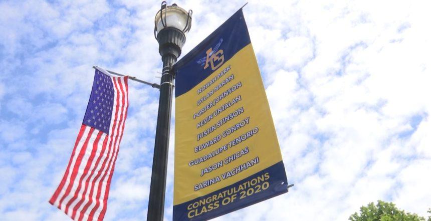 New Banners Hung In Arroyo Grande Honoring Local School Throughout Arroyo Grande School Calendar