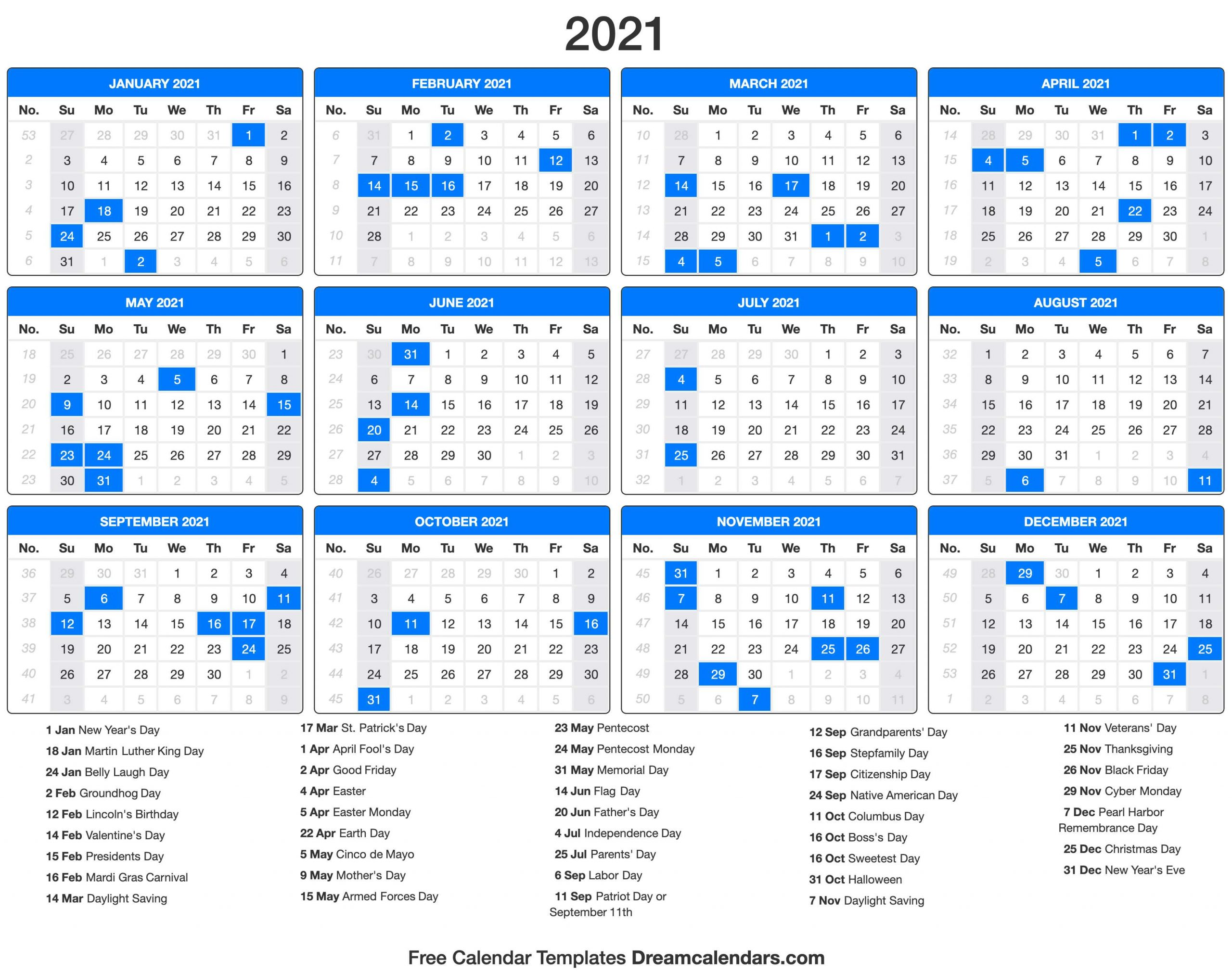 New Calendar Leap Week   Calendar Printables Free Templates Pertaining To 52 Week Printable Calendar Blank