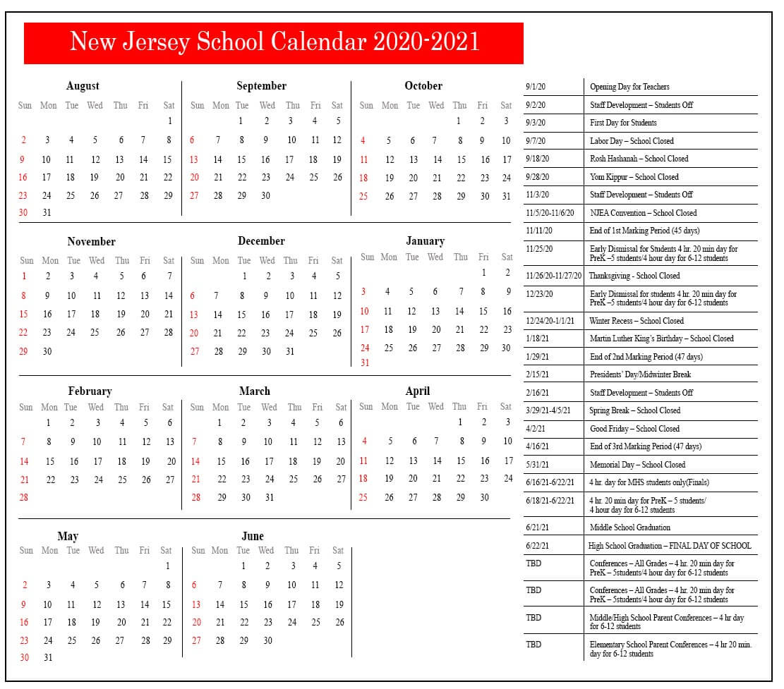 New Jersey School Calendar 2021 | Nyc School Calendar Within Shelby County Al Public School Calendar 2021 2021