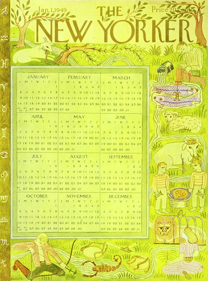 New Yorker January 1, 1949 Paintingilonka Karasz In The New Yorker Editorial Calendar