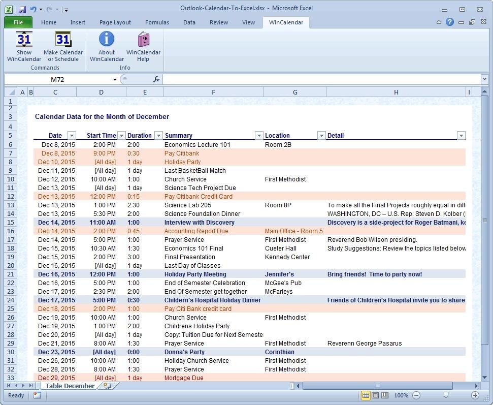 Outlook 2019 Calendar Printing Word Wrap   Calvert Giving Regarding Convert Excel Sheet To Calendar