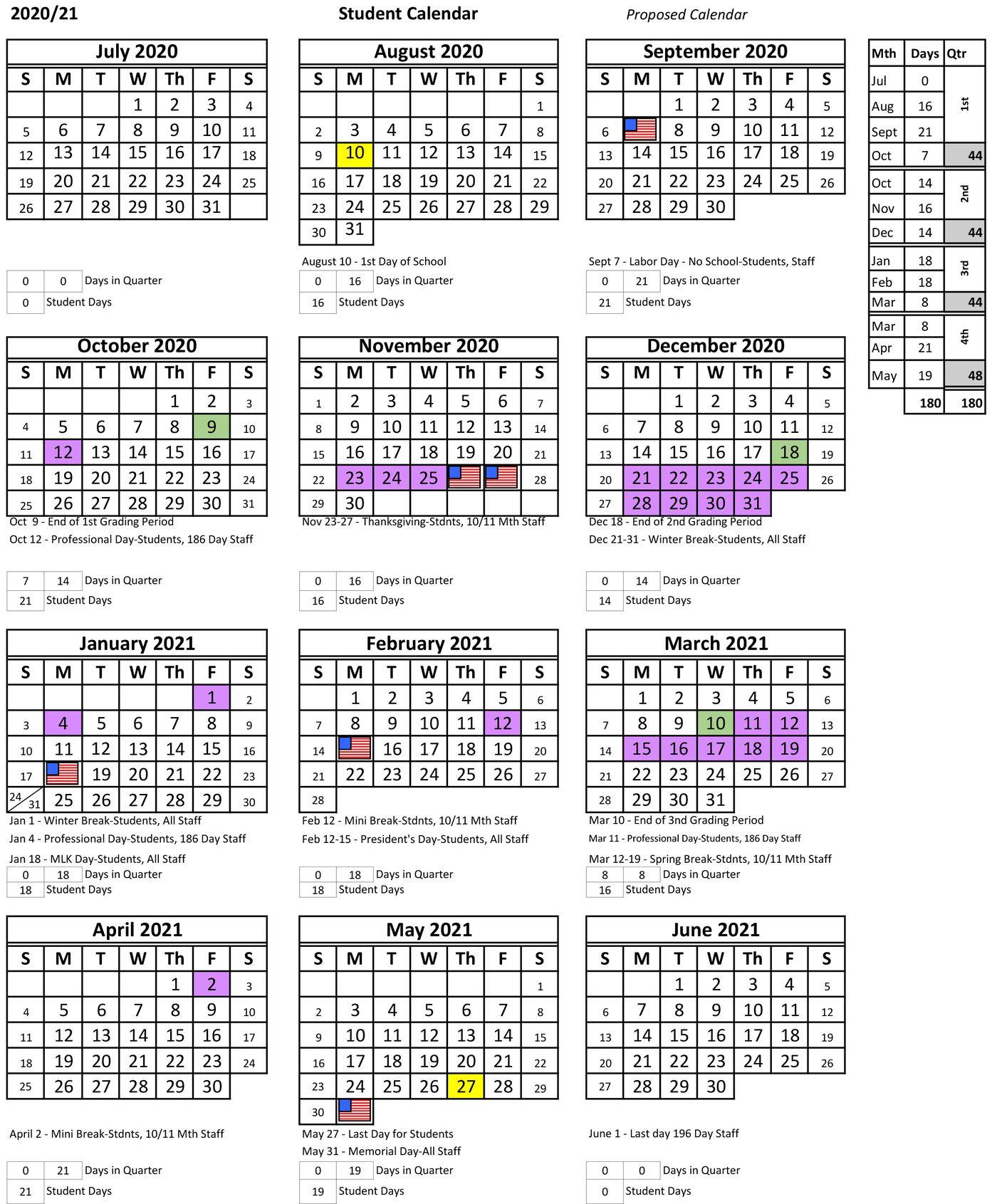 Pinellas County School Calendar 2020 21 | Exam Calendar Regarding Example Year Round School Schedule