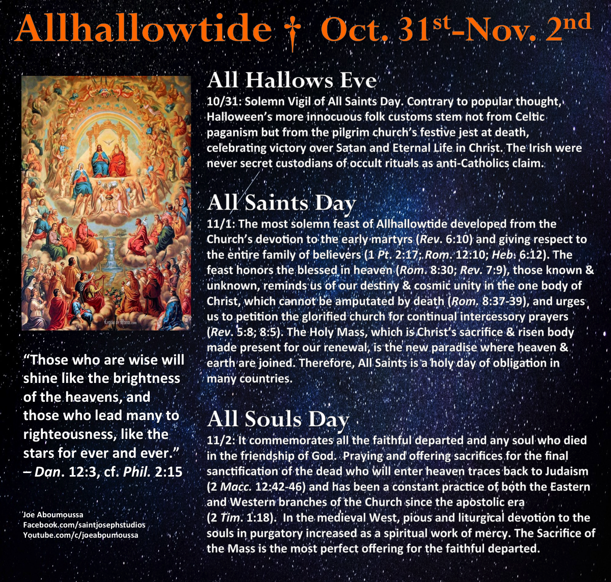 Pinlynne Dunker On Halloween (With Images)   Catholic Within Catholic Saint Of The Day Calendar