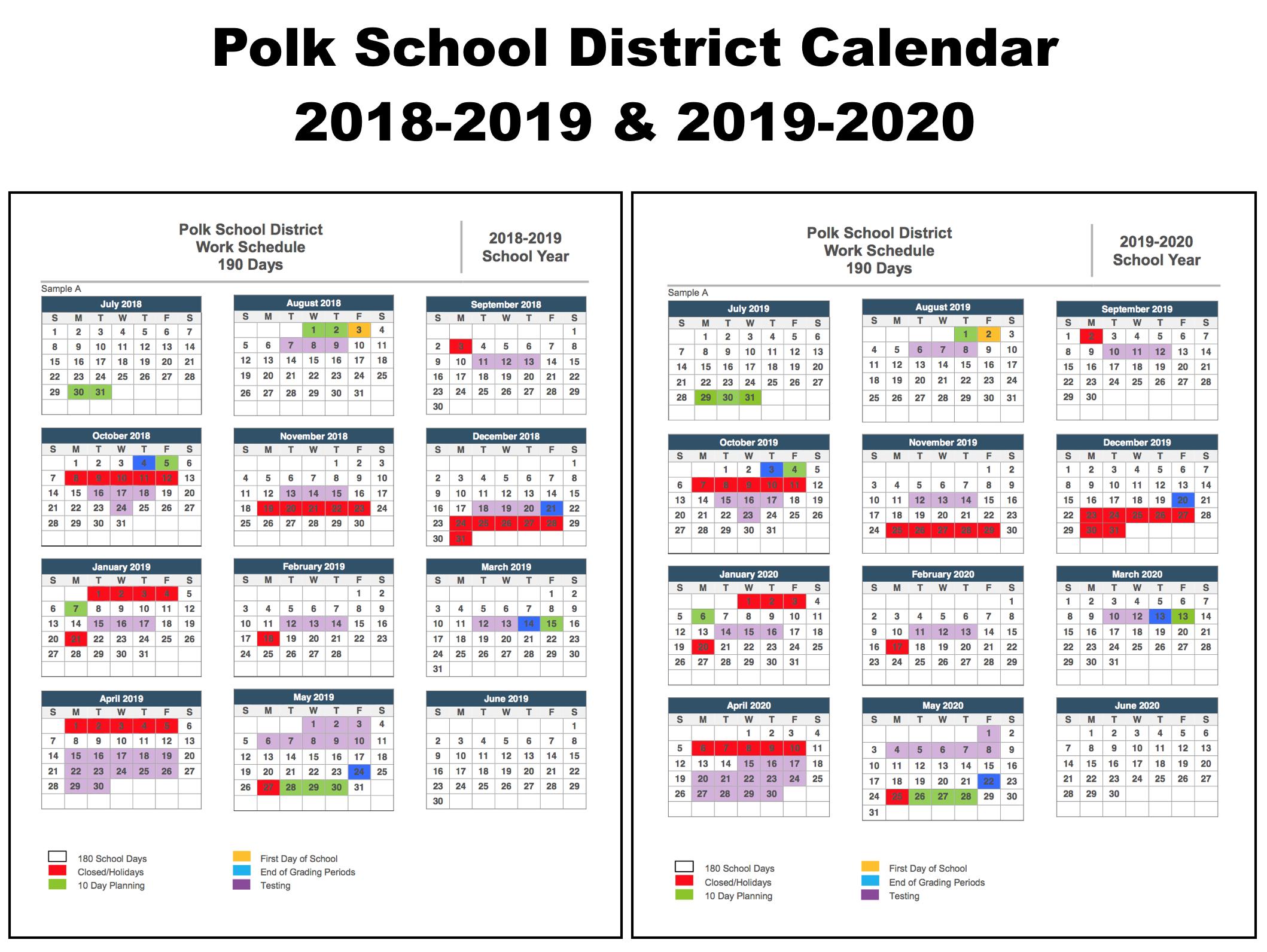 Polk County School Calendar 2020 17   Calendar Fall 2020 For University Of Albany Ga School Calendar
