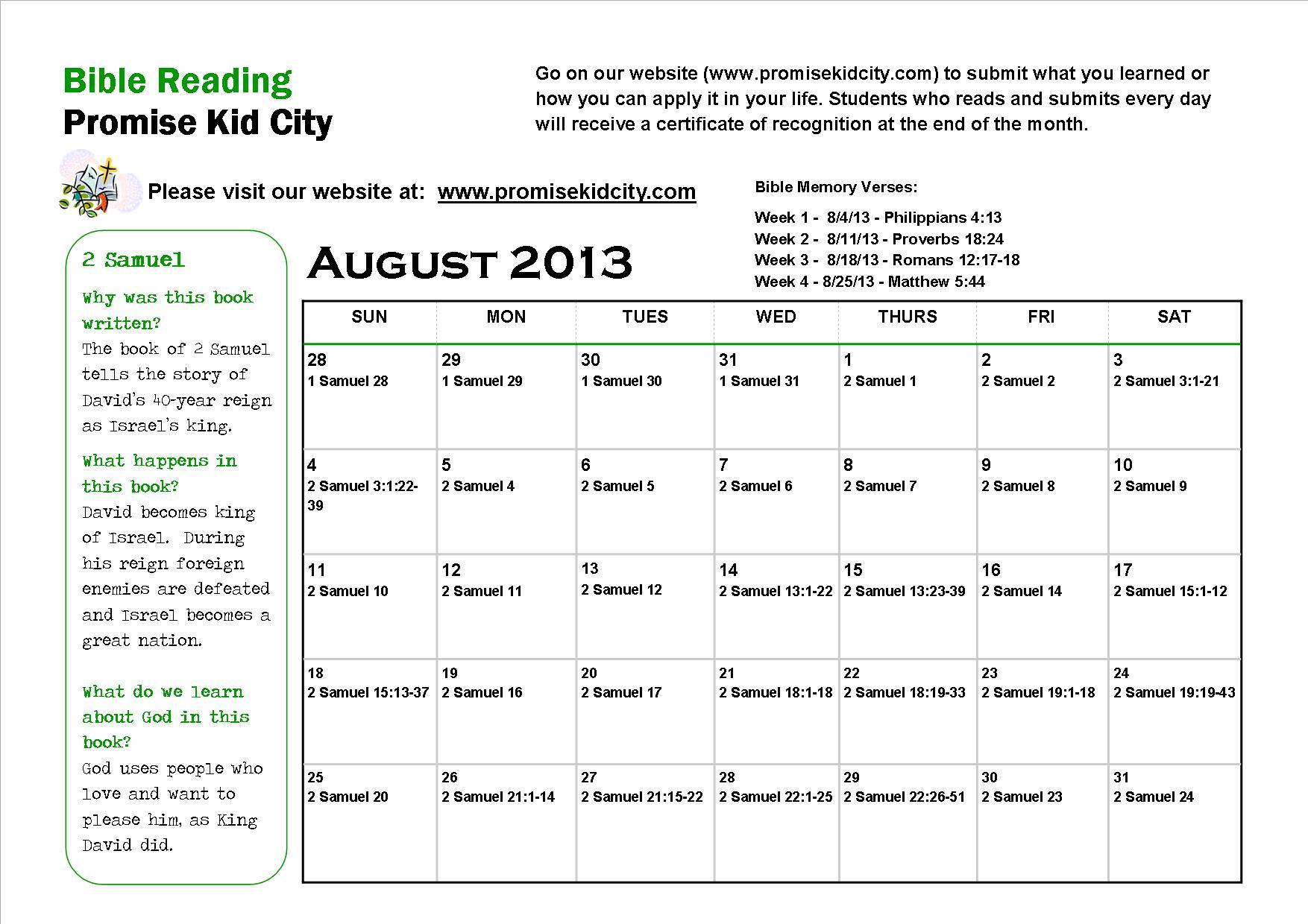 Promise Kid City / Bible Calendar / Bible Reading Calendar Throughout Read The Bible In A Year Calendar