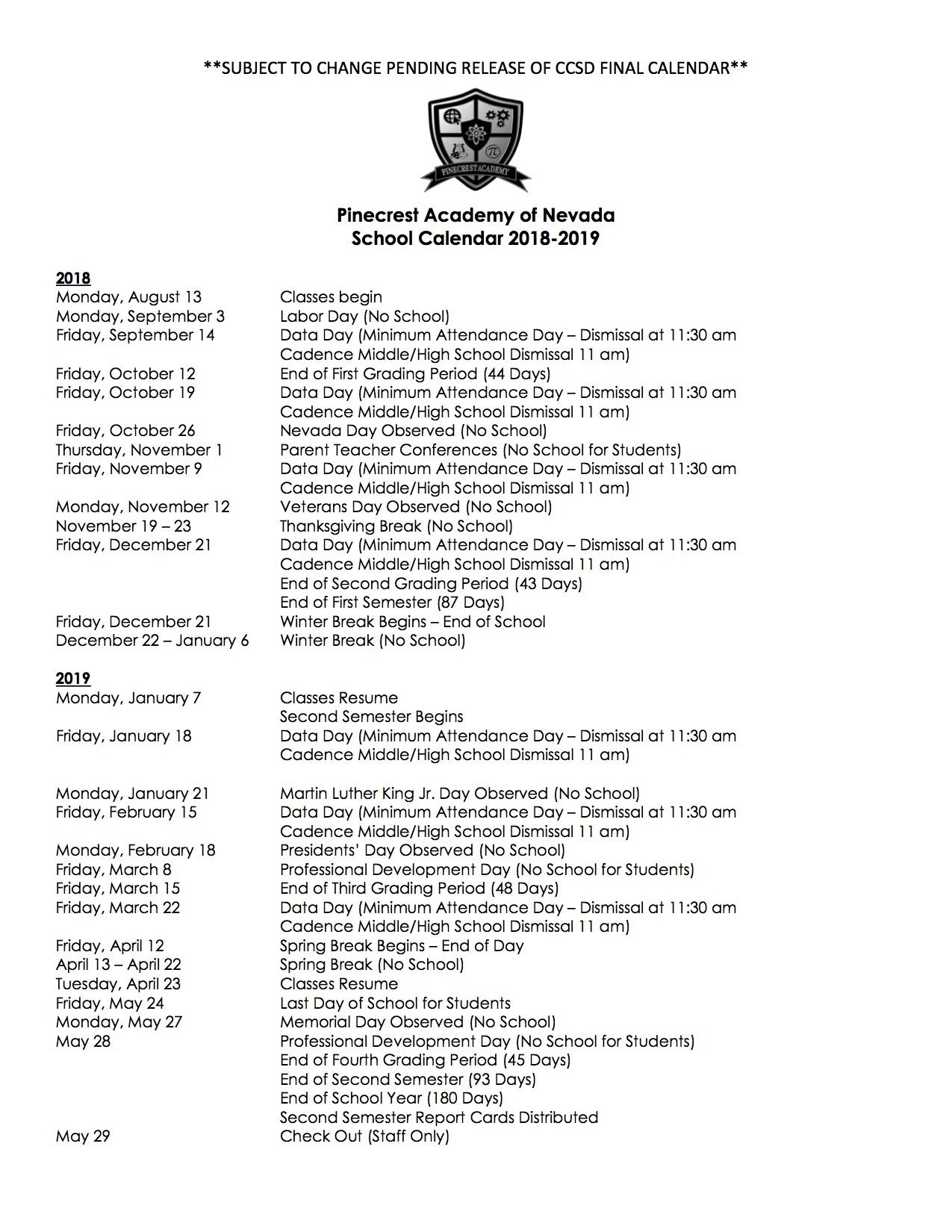 Resume Of Classes January 3 2019 Inside Washtenaw Community College Semester Schedule