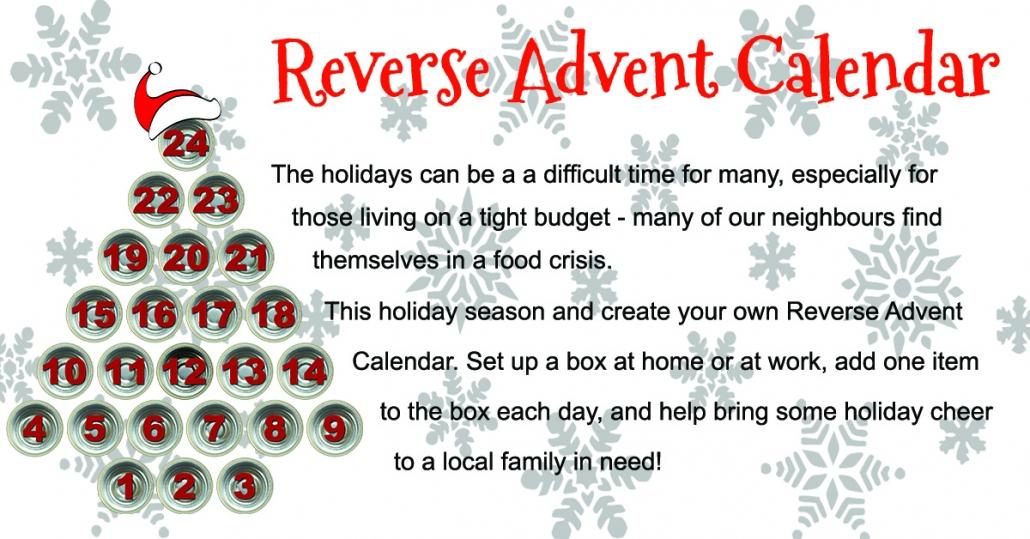 Reverse Advent Calendar – Newmarket Food Pantry In Add Seasons To Google Calendar