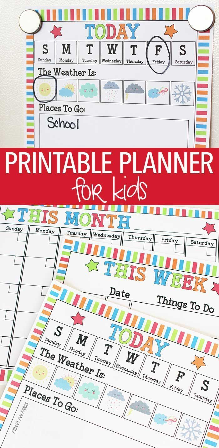 Rock Your Routine With A Printable Planner For Kids | Kids For Little Rock Public School Wall Calendars