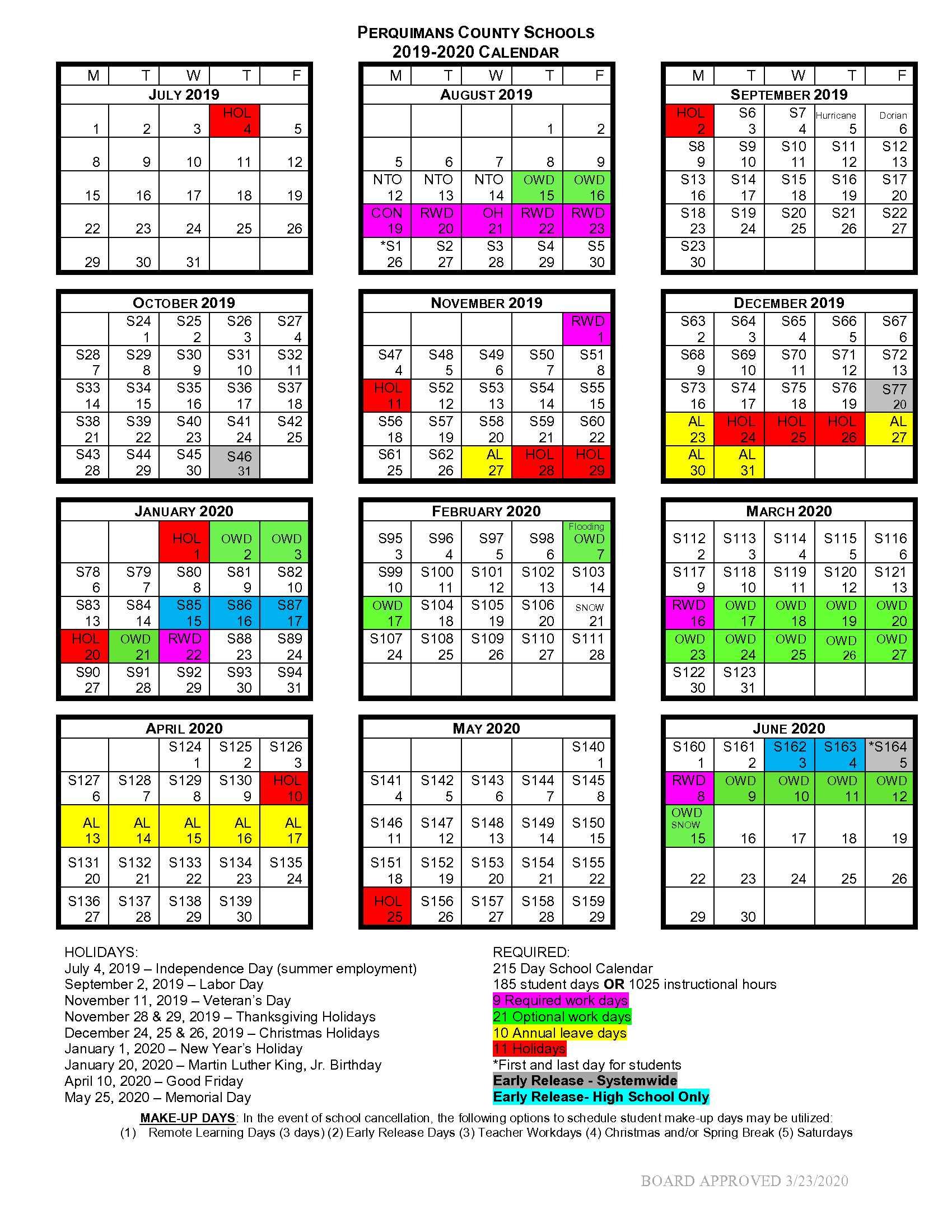 School Calendar 2020-2021 - Perquimans School District throughout Board Of Education Calendar 2021 2020 Bibb County