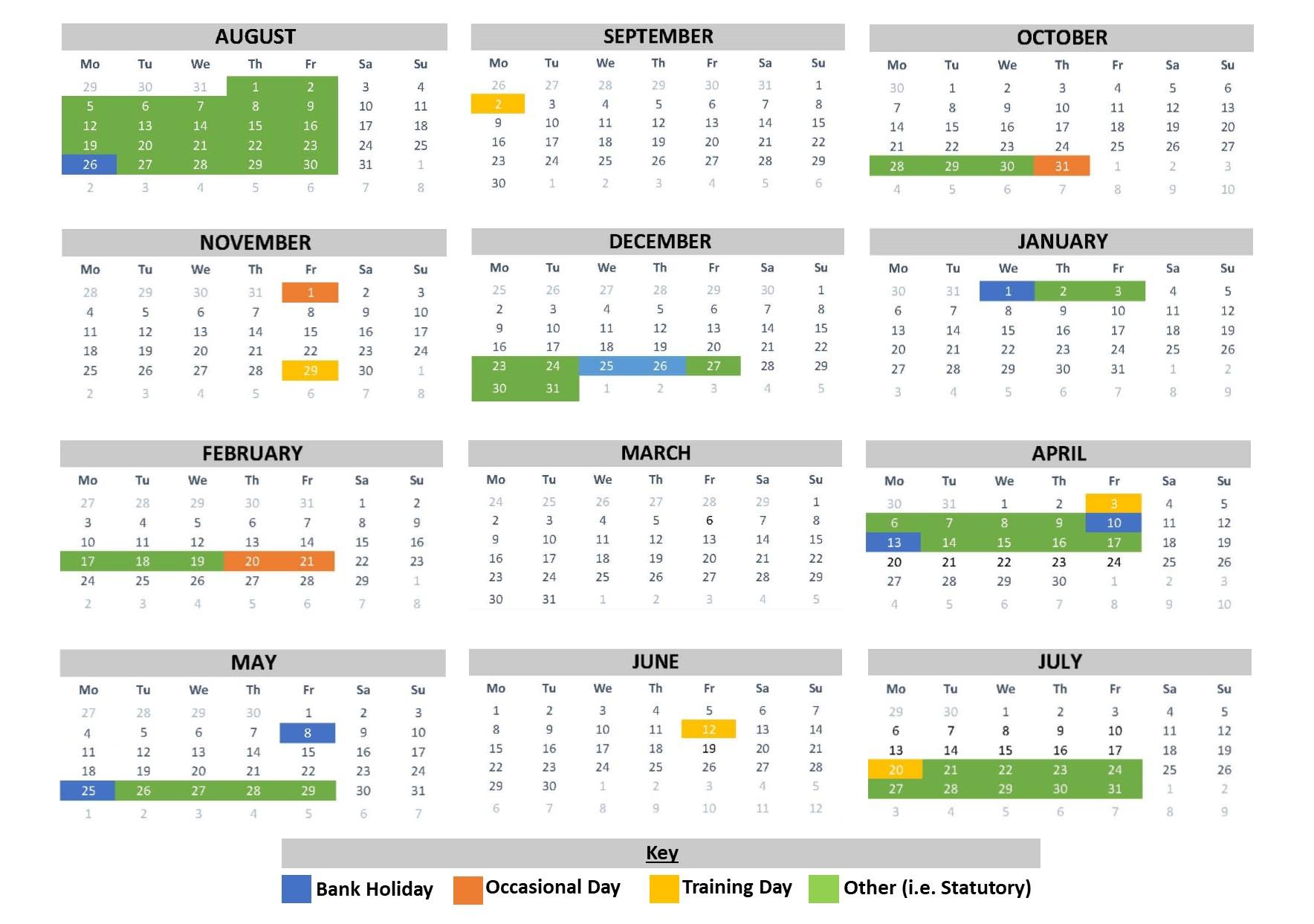School Calendar   Beckfoot School Intended For University Of Northern Colorado Academic Calendar 2020 Fall