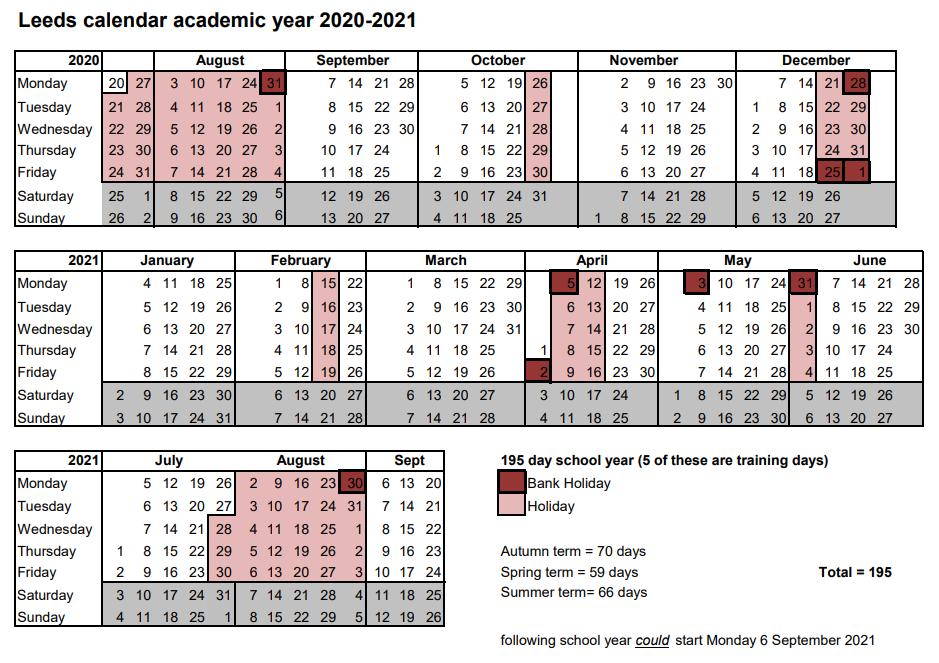 School Calendar   Harehills Primary School Inside Colorado Springs District 20 2021 20 School Calendar