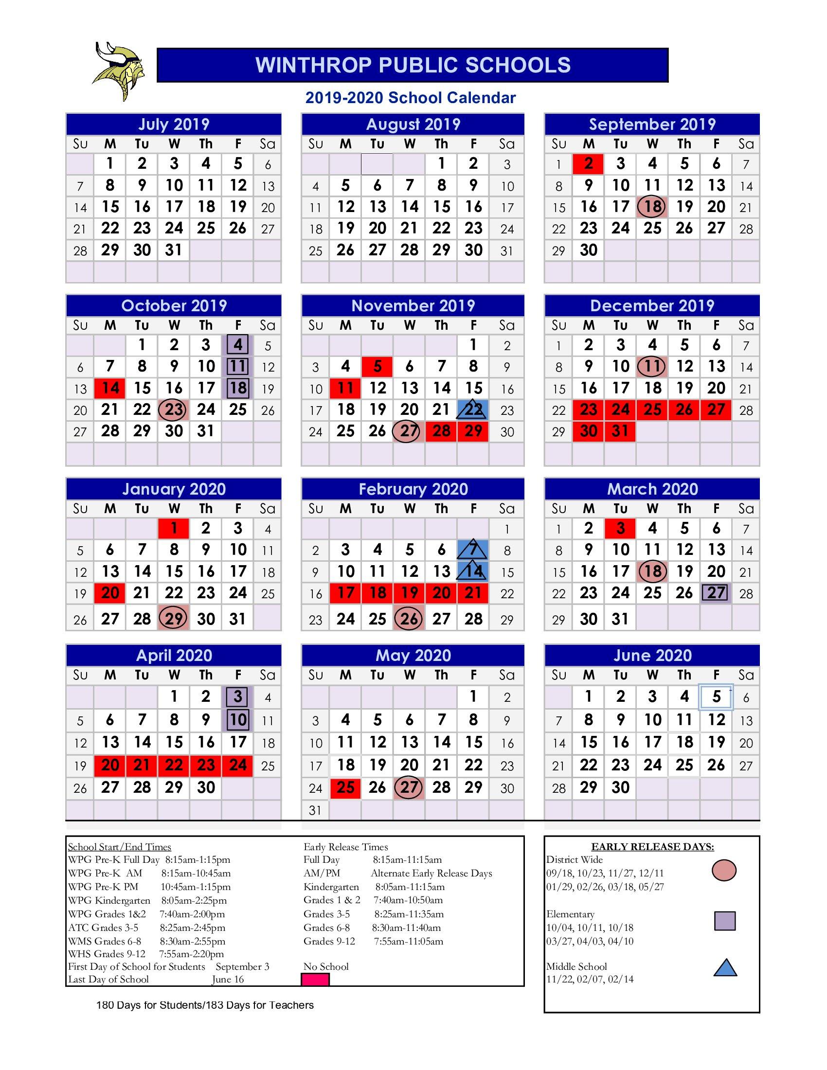 School District 93 Calendar For 2020  2021   Printable Intended For Academic Calendar 2021 20 Chamberlain