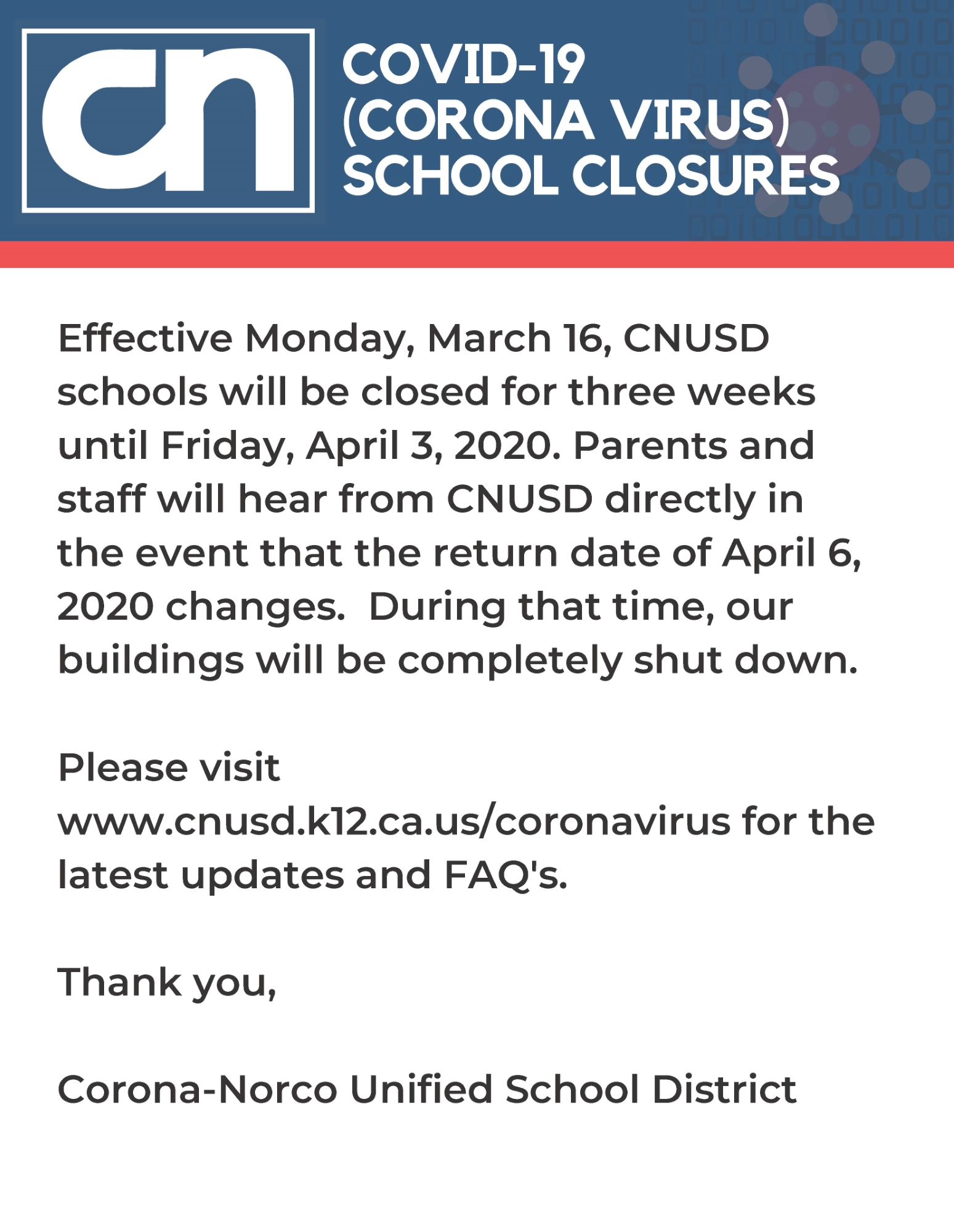 School Safety Updates - John F. Kennedy Middle College Pertaining To Corona Norco Unified School Calendar