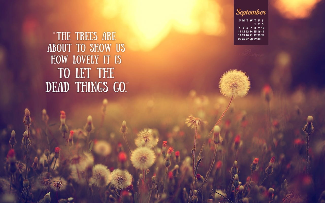 September 2016 - Let Things Go Desktop Calendar  Free Pertaining To Things To Do In Atlanta Monthly Calendar