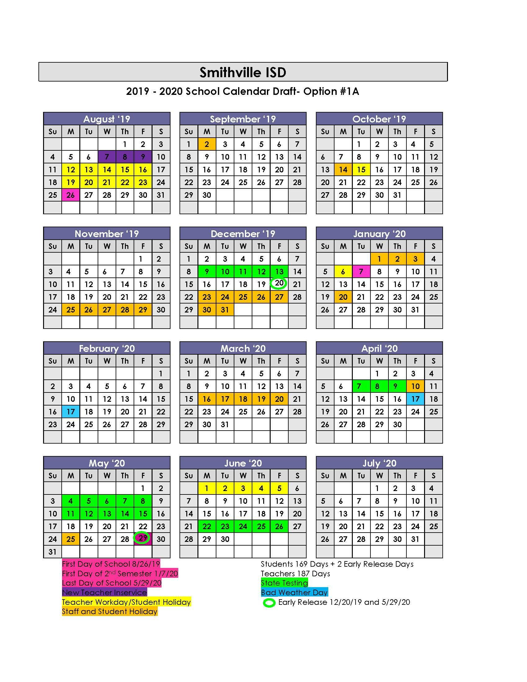 Sisd Academic Calendar – School Board – Smithville Regarding Texas State Univeristy Calendar 2021 2021