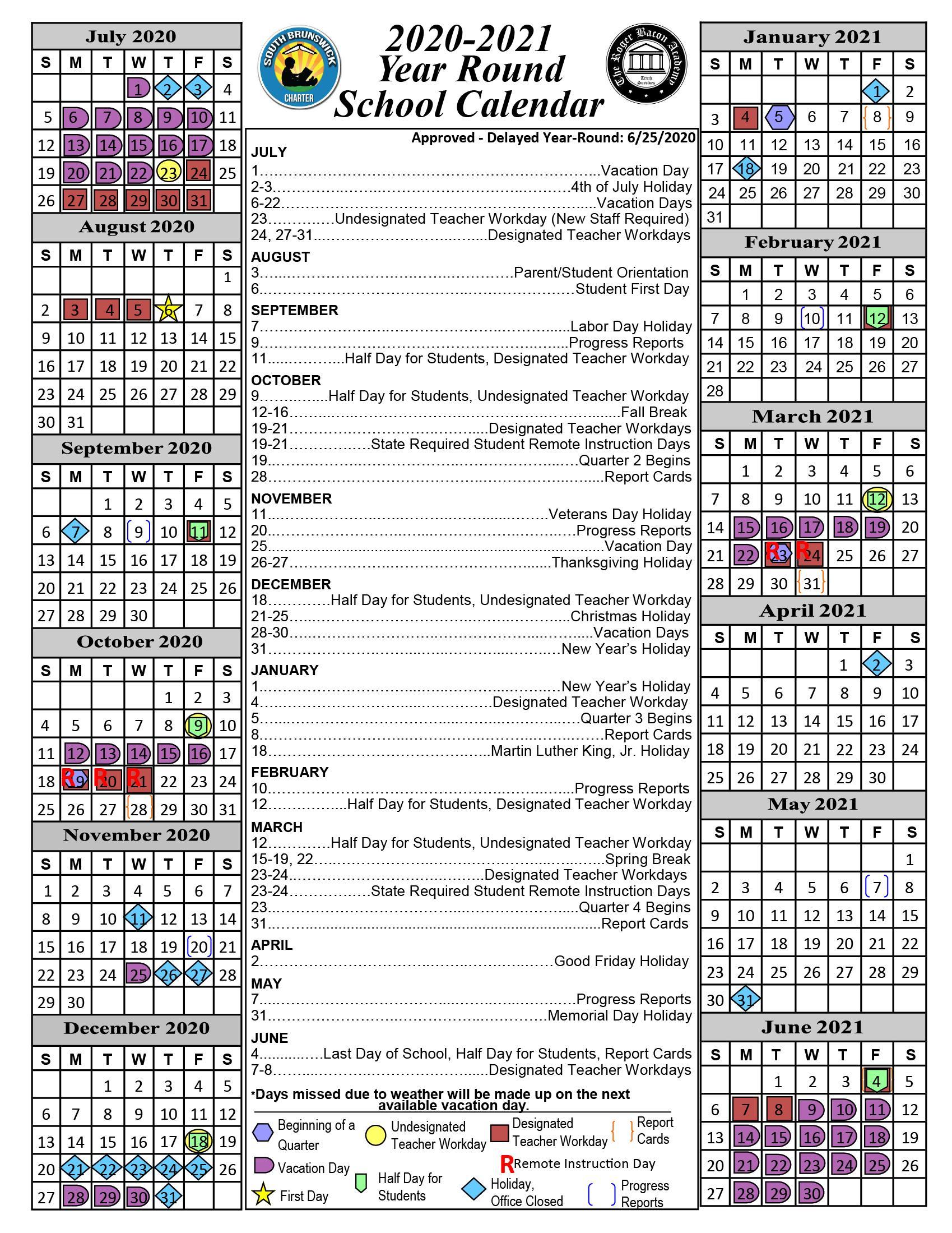 South Brunswick Charter School Regarding South Brunswick High School Calendar 2021