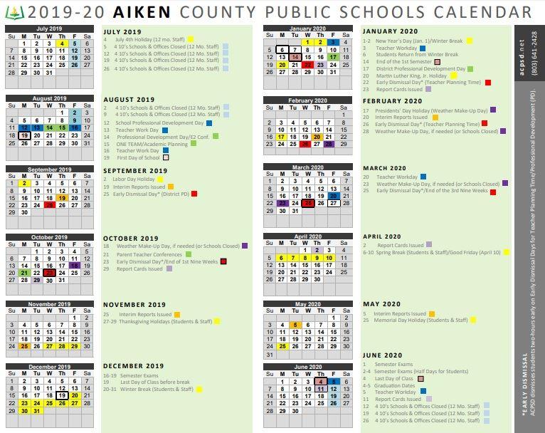 Stone, Deborah (3Rd Grade) / Calendar Pertaining To Aiken County School Calendar 2021 2020