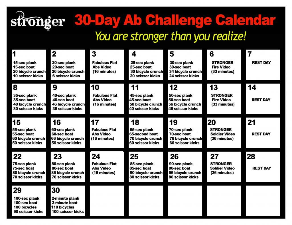 Stronger 30Day Ab Challenge Zps002628D7 Photo Pertaining To 30 Days Abs Challenge Calendar